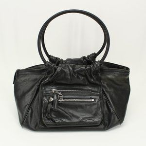 Sonia Rykiel Black Leather Large Purse